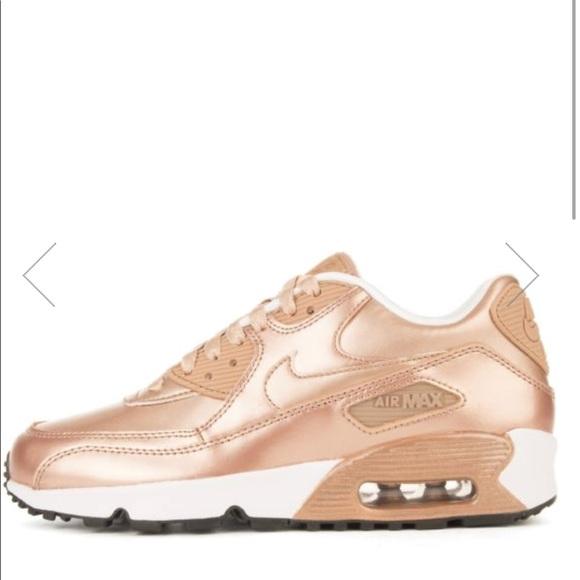 Rose gold Nike Air Max 90